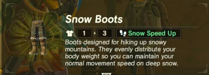 Snow Boots Armor Guide [The Legend of Zelda: Breath of the