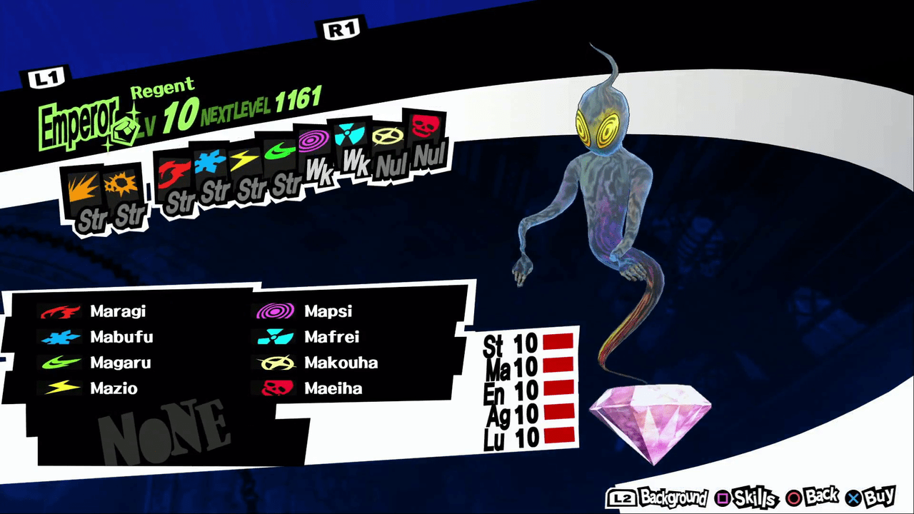 PERSONA (but mostly P5) Sg-p5-regent