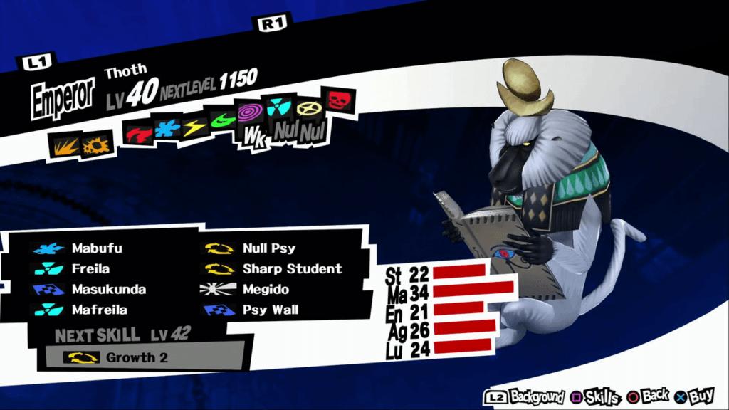Persona 5 / Persona 5 Royal - Thoth