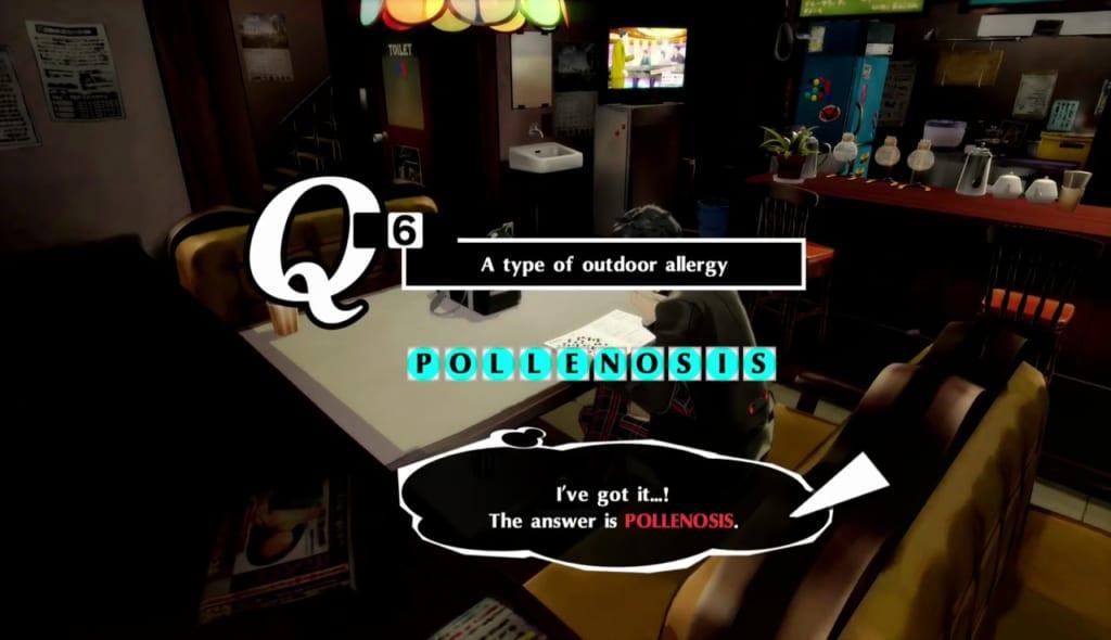 Persona 5 / Persona 5 Royal - Crossword Puzzle 5/26