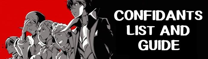 Persona 5 - Confidants List and Guide