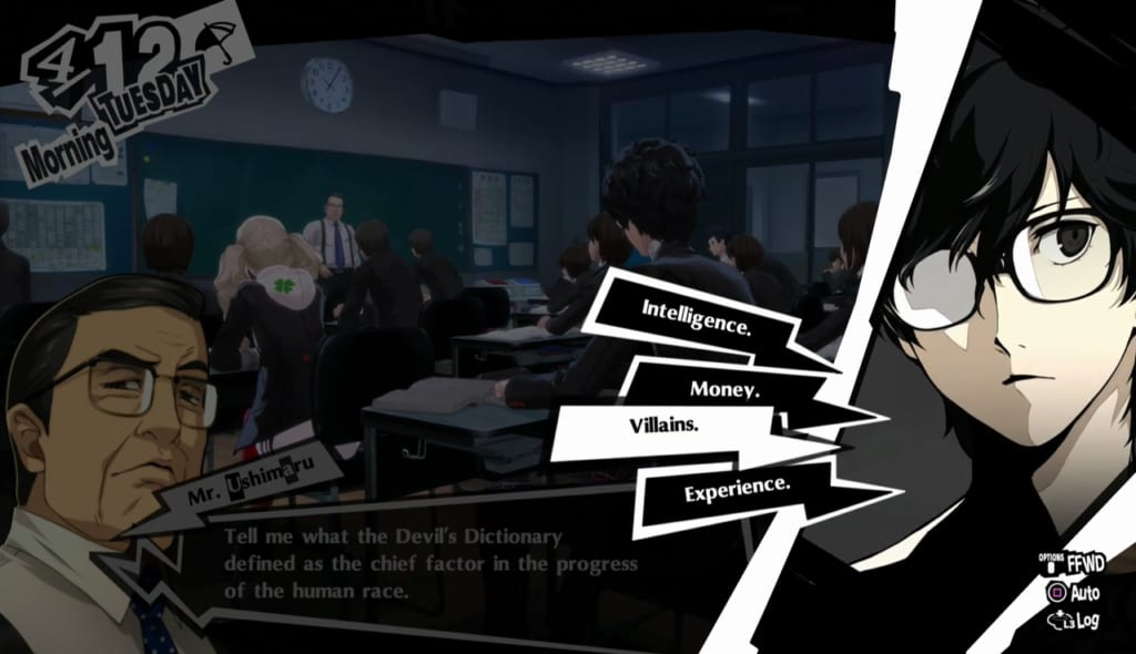 Persona 5 Royal - April Classroom Answers