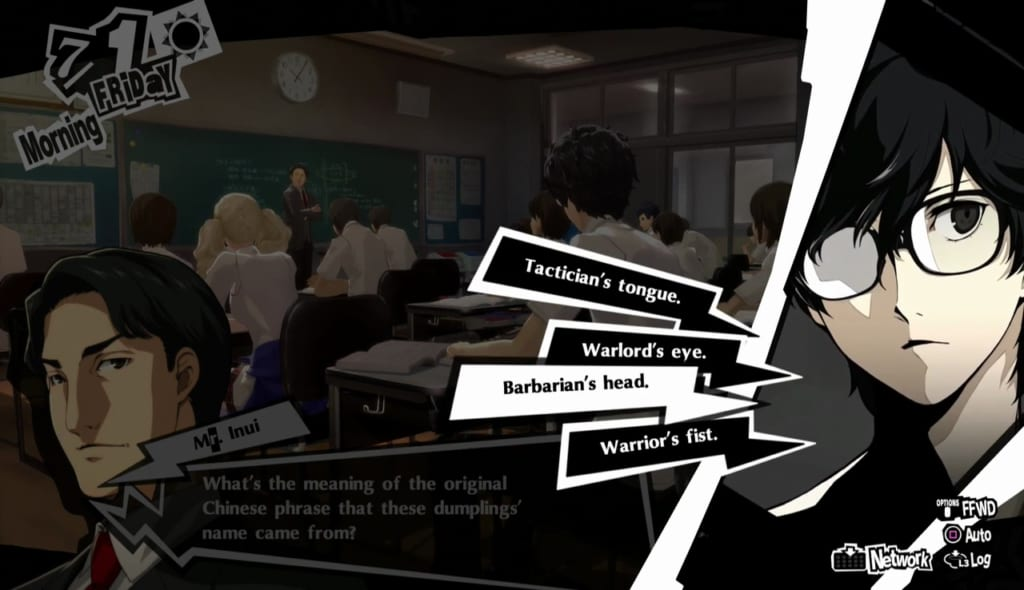 Persona 5 Royal - July Classroom Answers