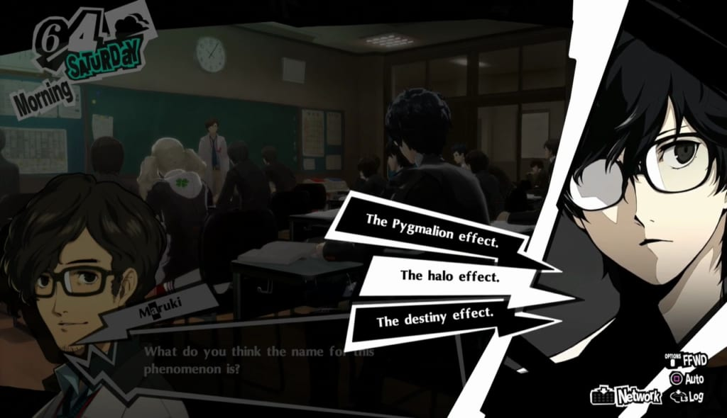 Persona 5 Royal - June Classroom Answers