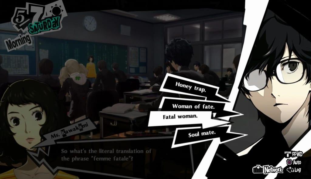 Persona 5 Royal - May Classroom Answers