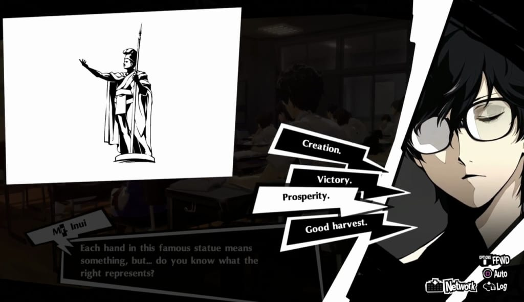 Persona 5 Royal - September Classroom Answers