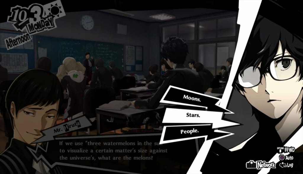 Persona 5 Royal - October Classroom Answers