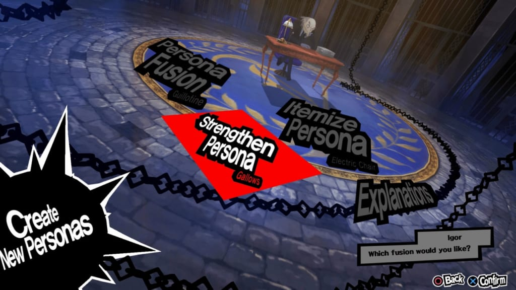 Persona 5 / Persona 5 Royal - Velvet Room Gallows Service
