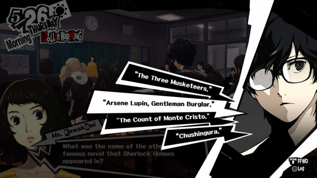 Persona 5 / Persona 5 Royal - Classroom Answers