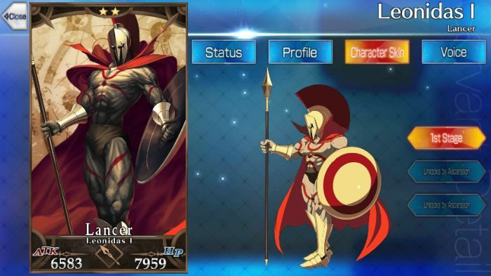 Fate Grand Order Fgo Leonidas Skills Stats And Strategies