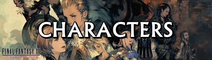 Final Fantasy 12: The Zodiac Age / FFXII: TZA - Characters