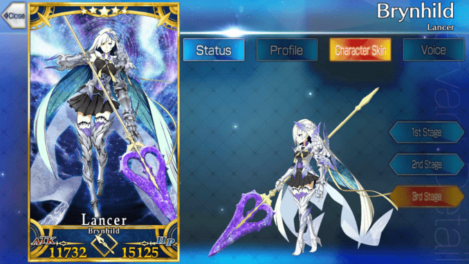Fate Grand Order/ FGO] Brynhildr: Skills, Stats and, Strategies