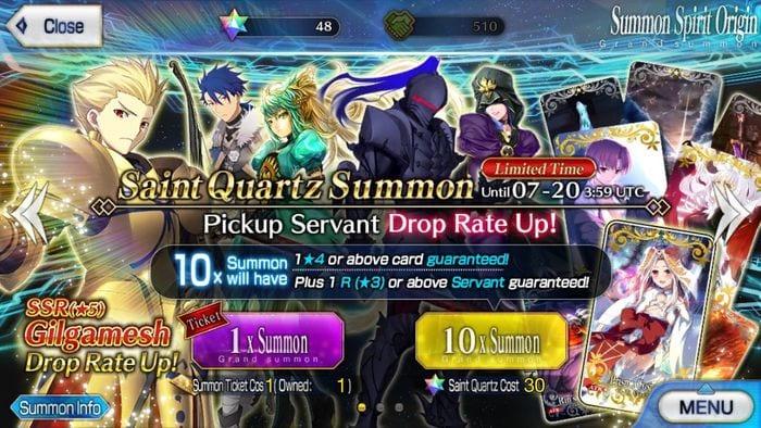 Fate Grand Order / FGO] Using Saint Quartz Efficiently