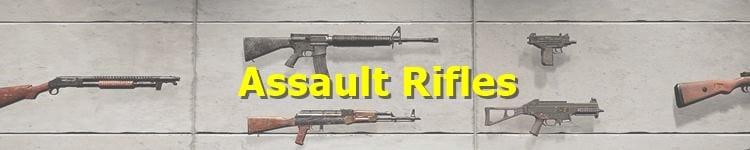 PUBG Assault Rifles (AR)