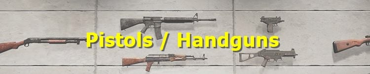 PUBG Pistols and Handguns