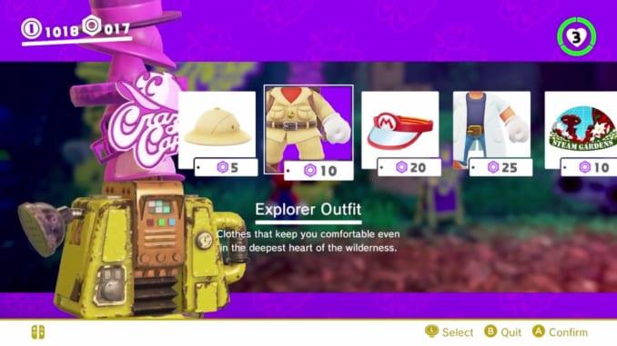Super Mario Odyssey Costumes List