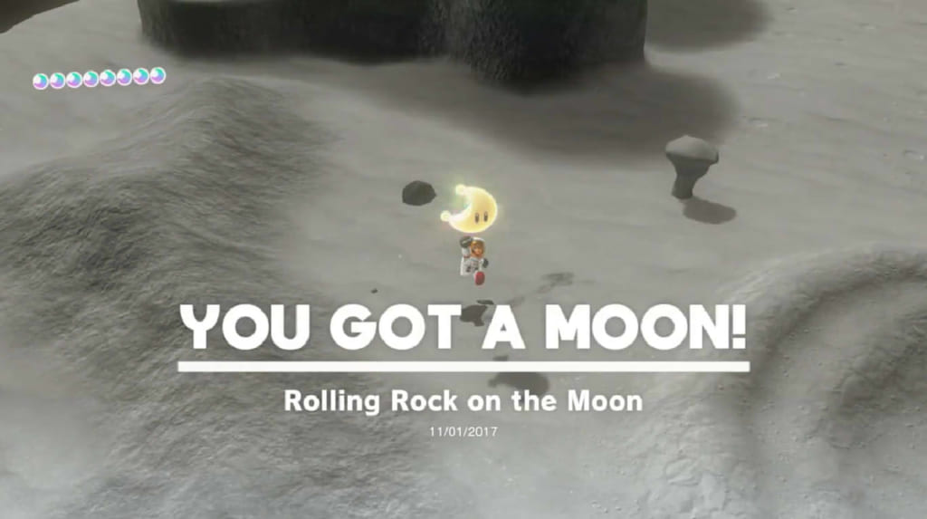 Rolling Rock on the Moon