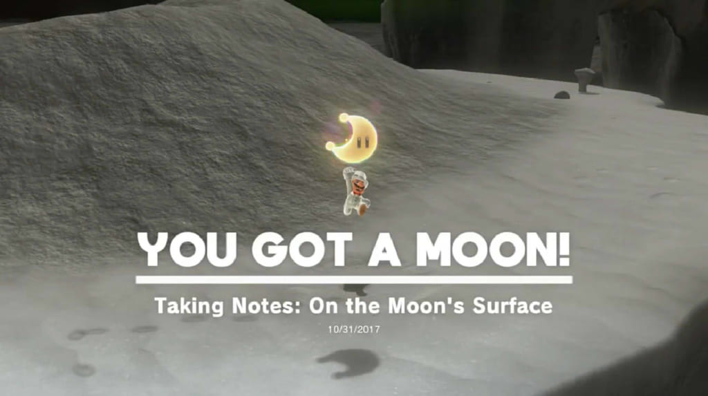 Taking Notes: On the Moon's Surface