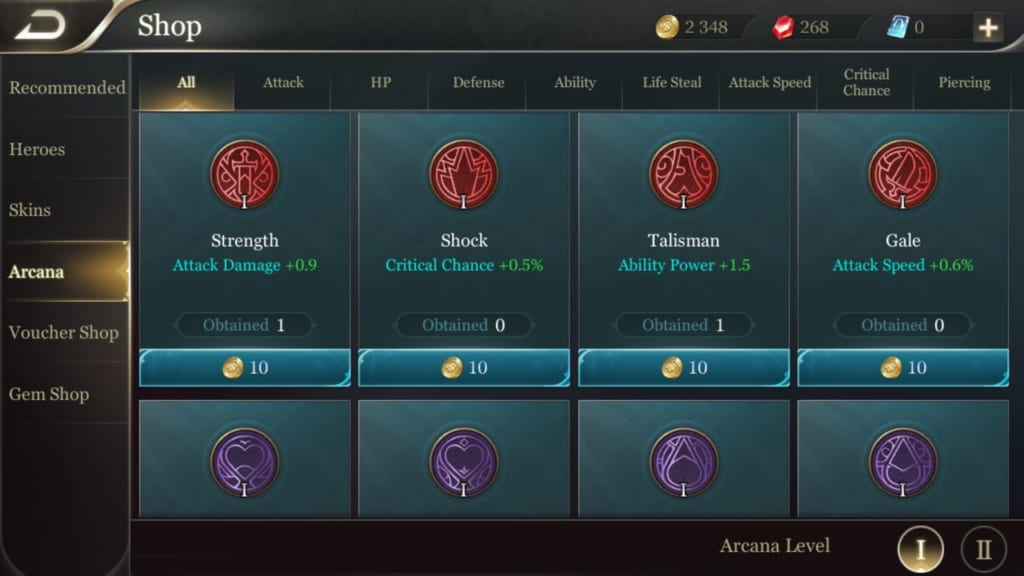 Arena of Valor ARCANA 1