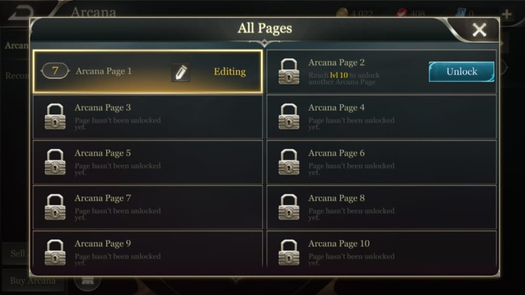 Arena of Valor PAGES