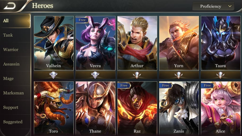 Arena of Valor HEROES