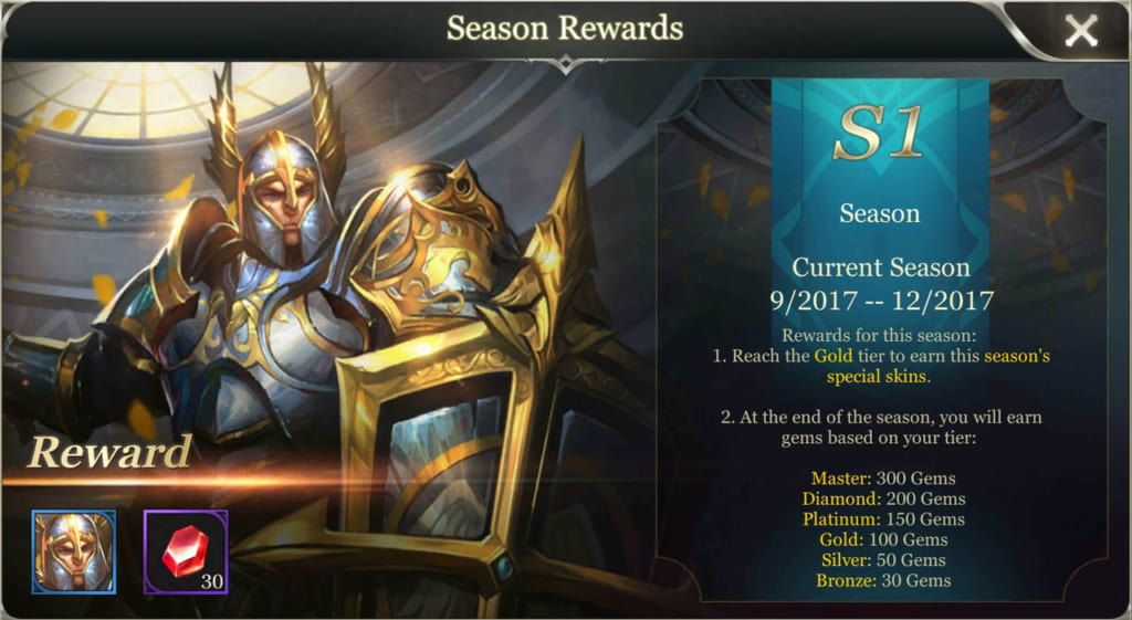 Arena of Valor Season Rewards
