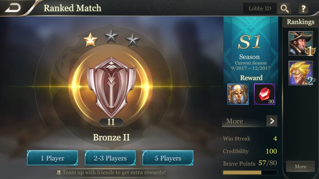 Arena of Valor Ranked Play