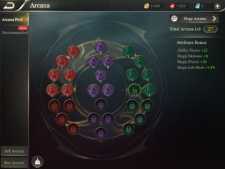 Arena of Valor Arcana Menu