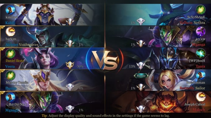 Arena of Valor Pre-Match Screen - Match Waiting Screen