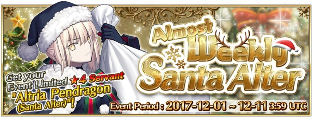 almost weekly santa alter
