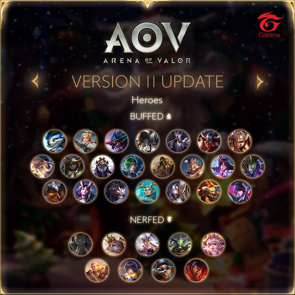Arena of Valor - SEA Server Version 11 Heroes Updated