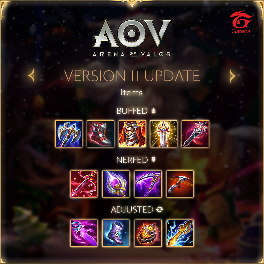 Arena of Valor - SEA Server Version 11 Items Update