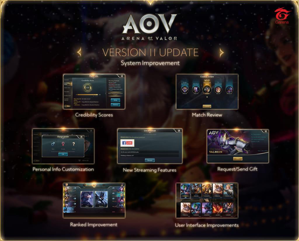 Arena of Valor - SEA Server Version 11 System Improvements Update