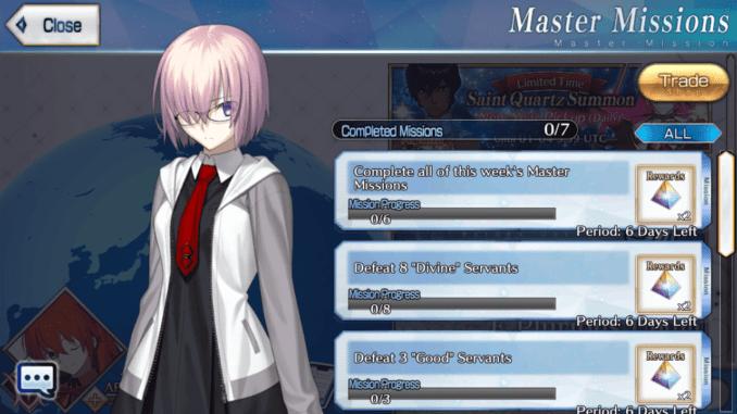 Master Missions - January 1 ~ January 7
