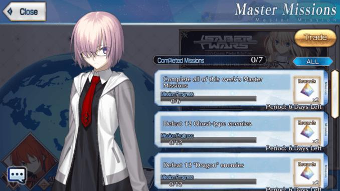 Master Missions - January 15 ~ January 22