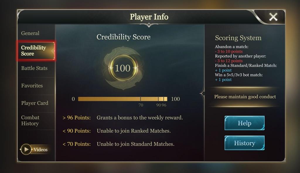 Arena of Valor Credibility Score 2