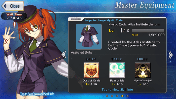 Atlas Academy Uniform Mystic Code