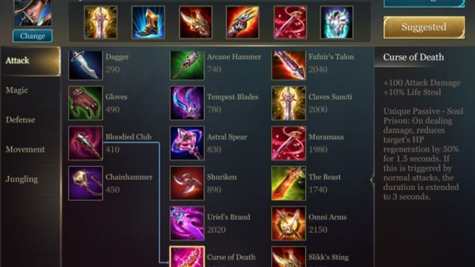 Arena of Valor Item Builds Overview