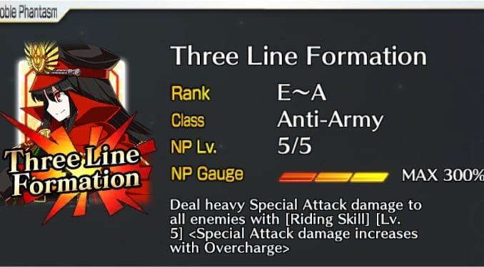 FGO Three Line Formation