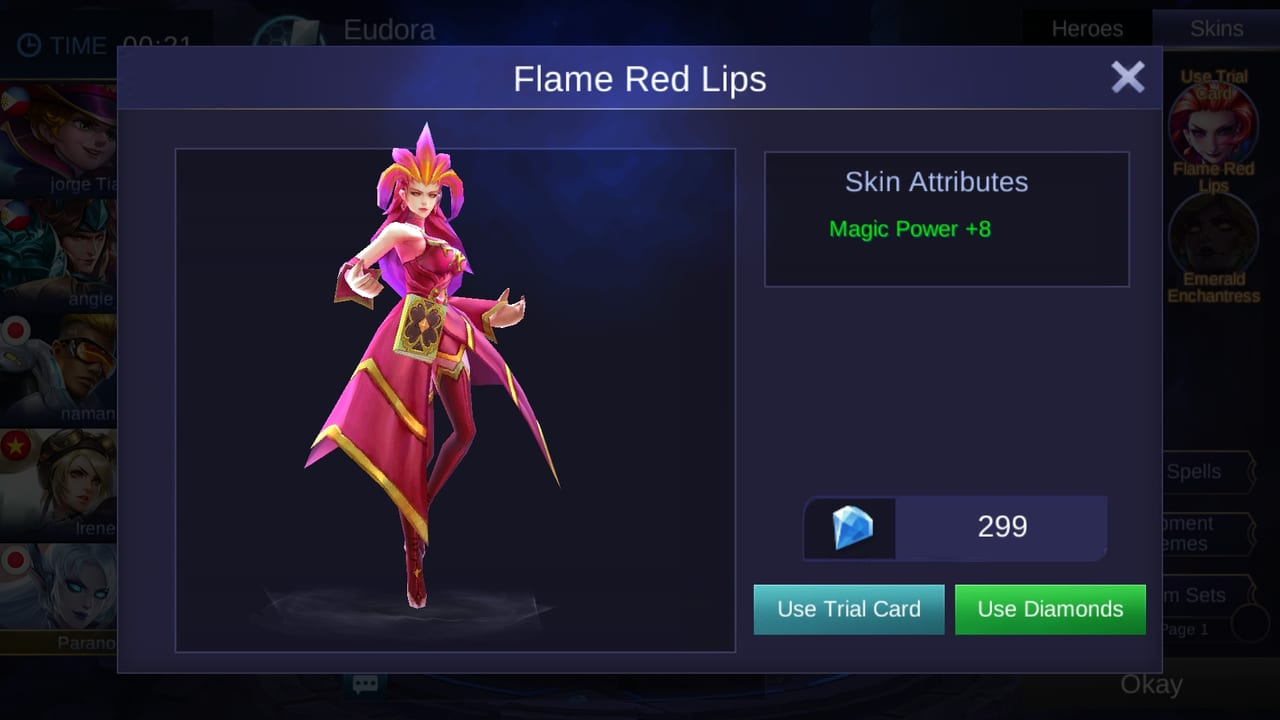 mobile legends skin