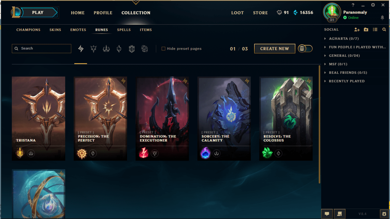 league of legends rune page