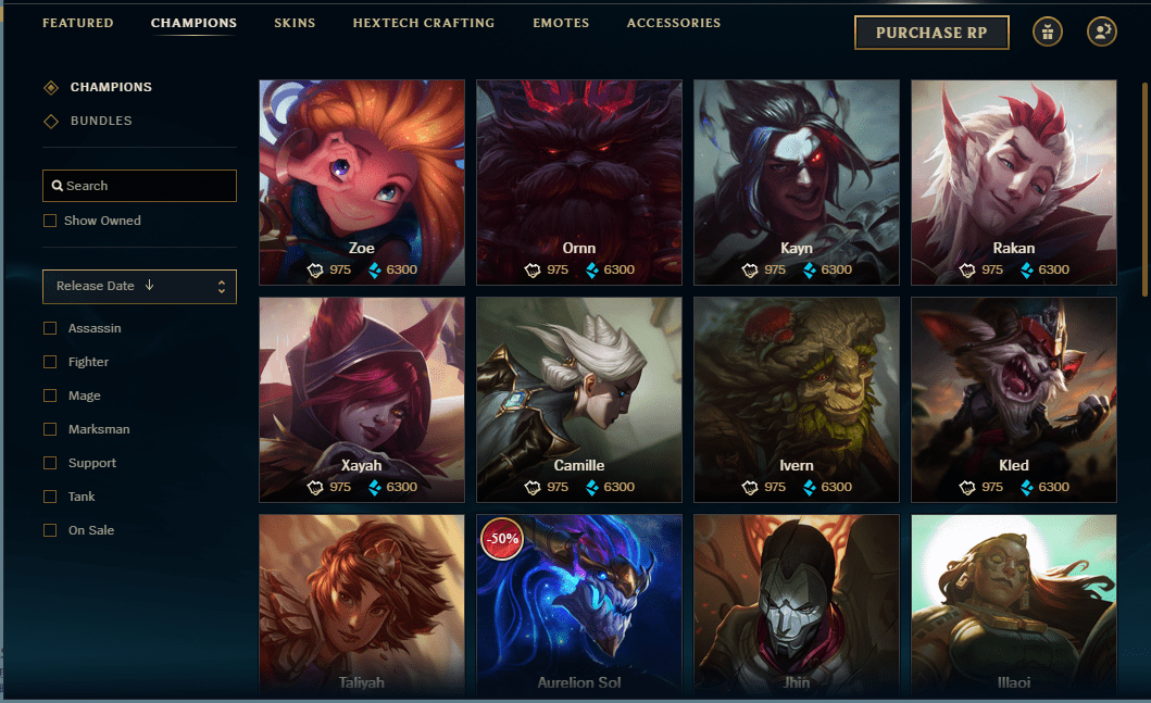 league of legends store