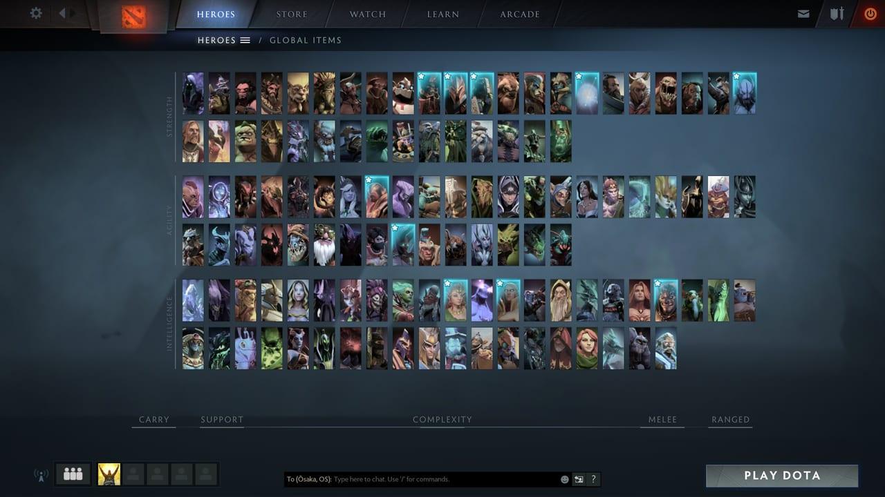 dota 2 hero page
