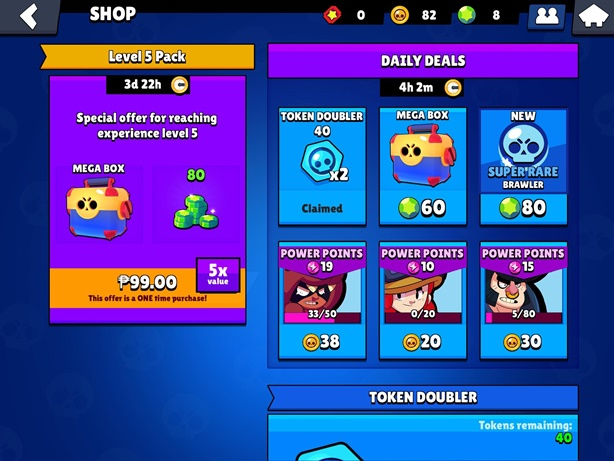 Brawl Stars Shop Screen
