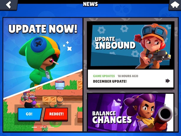 Brawl Stars News Screen