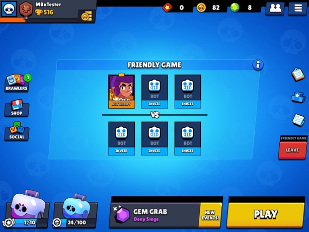 Brawl Stars Create Room Screen
