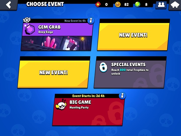 Brawl Stars Events Screen
