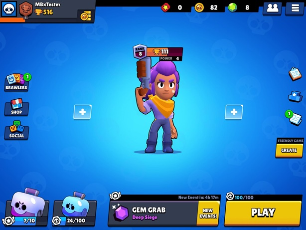 Brawl Stars Main Menu Screen