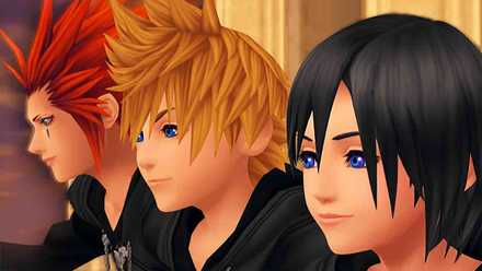 KH 358/2 Days Roxas, Xion and Axel in Twilight Town