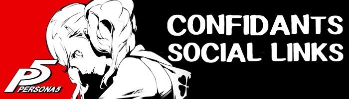 Persona 5 - Confidants and Social Links